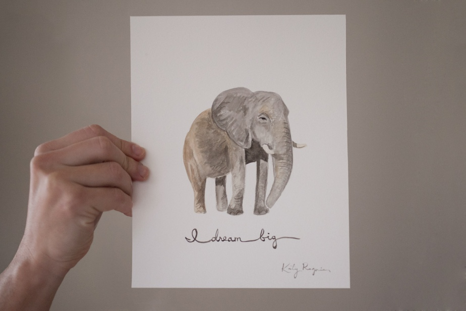 original-watercolor-painting-dream-big-elephant-2