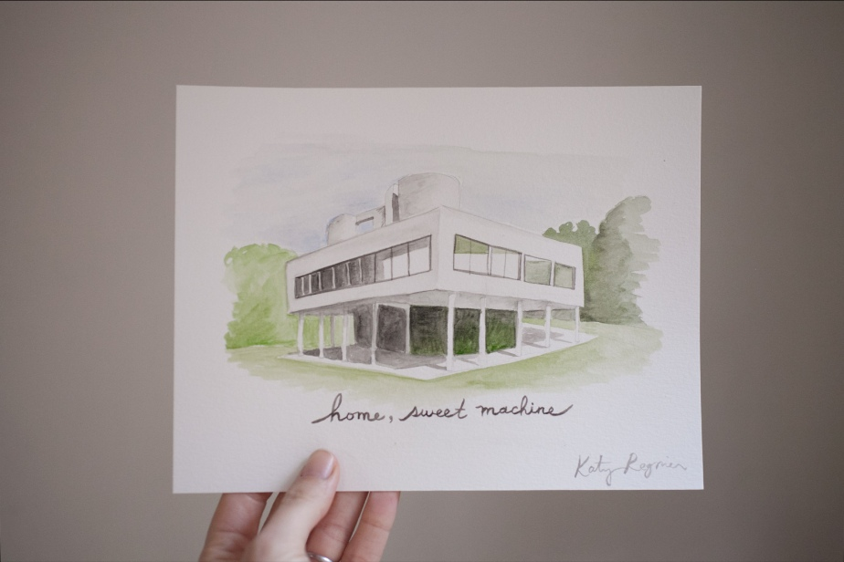 villa-savoye-original-watercolor-painting-2