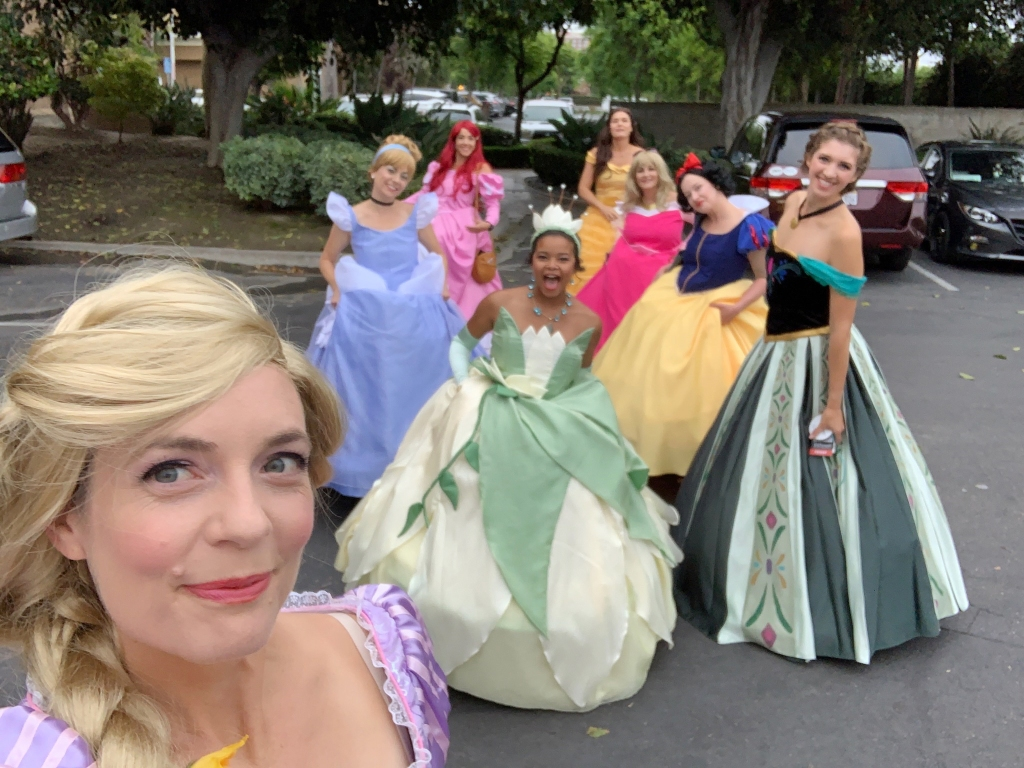 "D23 Expo Mousequerade costume contest ""Cast of Characters"" 2019 winner ""Mad Princess Party"" transformation teacup dress"
