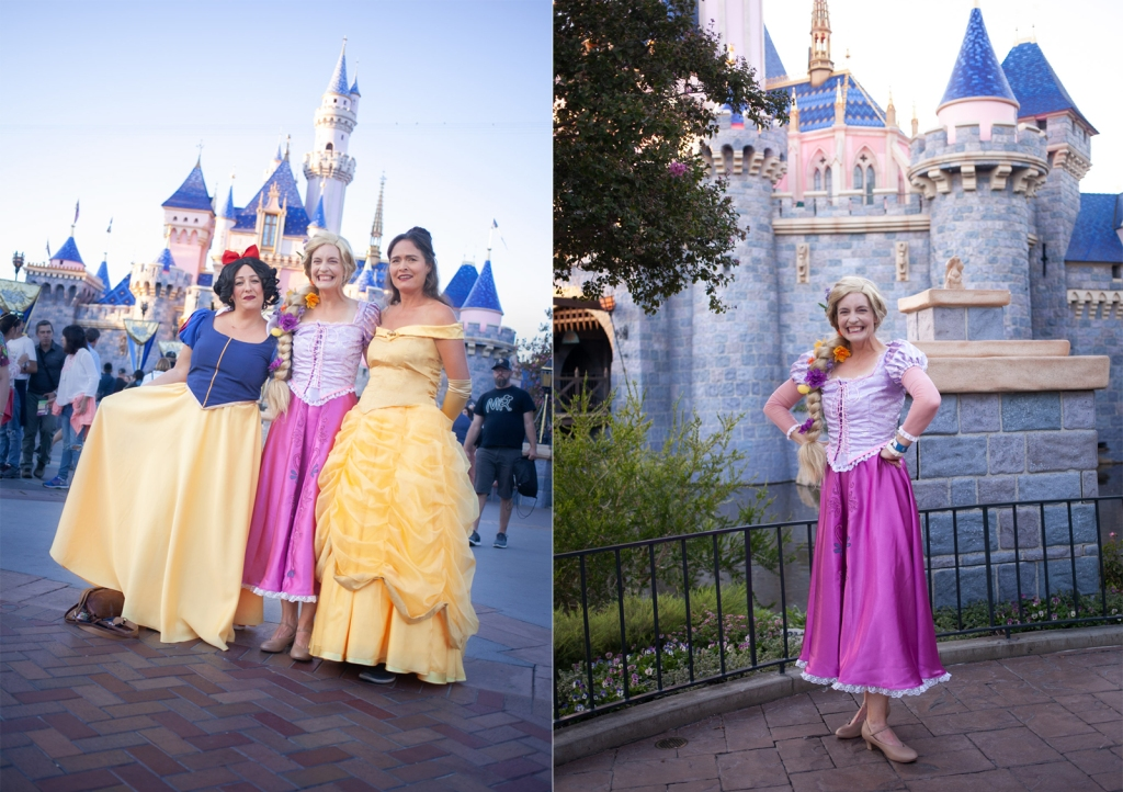 Disney Cosplay - Snow White, Rapunzel and Belle at Disneyland